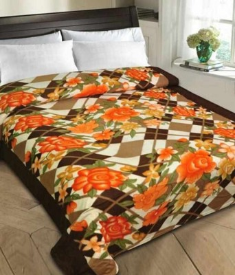 Shiv Fabs Floral Double Blanket Multicolor