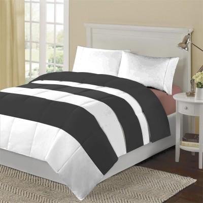 KIAANA Striped Double Blanket Black
