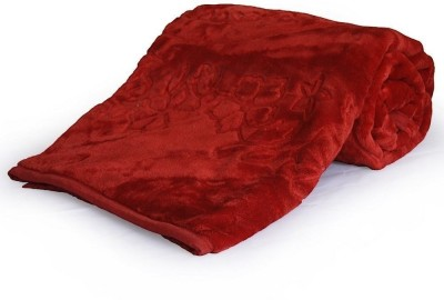 Kusum Creations Floral Single Blanket Red