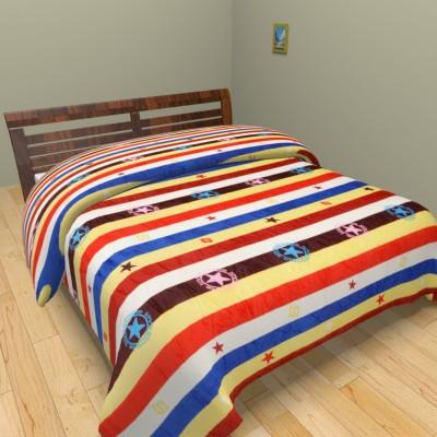 Spangle Geometric Double Blanket Multicolor