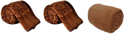 satviham Self Design Single Blanket Brown