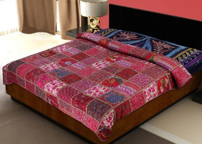 Rawaaz Checkered Double Quilts & Comforters Multicolor