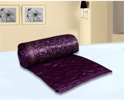 Chelsi Printed Double Quilts & Comforters Purple