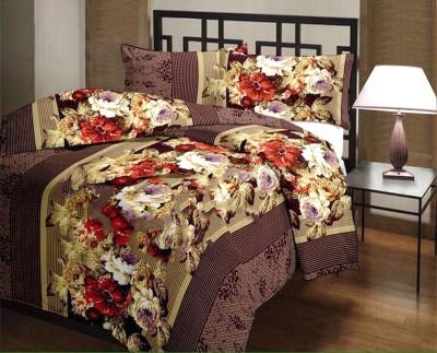 D&D Floral Single Blanket Brown