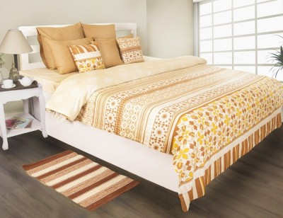 House This Abstract Single Dohar Beige