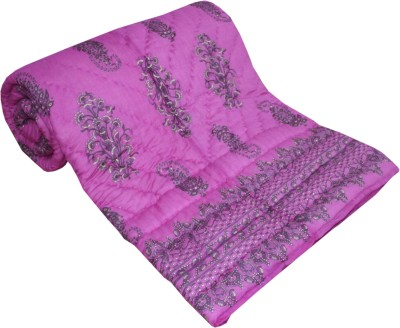 Shop Rajasthan Paisley Double Quilts & Comforters Pink