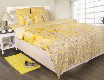 House This Floral Double Dohar Yellow