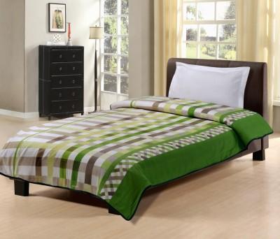 Hemlines Checkered Single Dohar Green