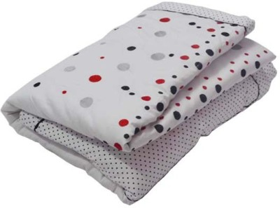 The Intellect Bazaar Polka Double Quilts & Comforters White And Black