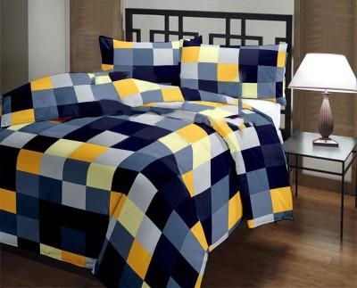 Factorywala Checkered Single Blanket Blue