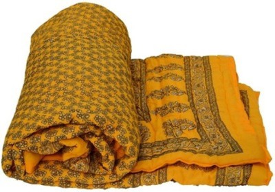Bigonlineshop Floral Double Quilts & Comforters Yellow