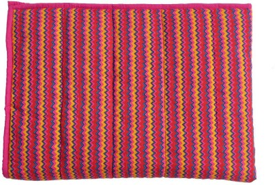 Wobbly Walk Abstract Single Blanket Pink