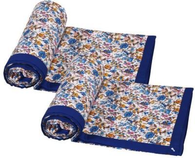IndiStar Floral Single Dohar Blue, Orange