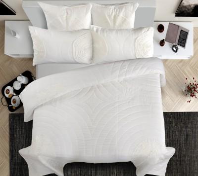 Shahenaz Home Shop Geometric King Quilts & Comforters White