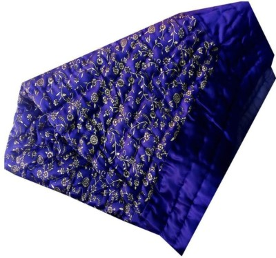 Mahadev Handicrafts Floral Single Quilts & Comforters Blue