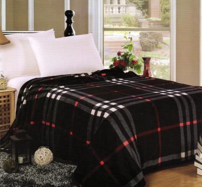 Welhouse Checkered Single Blanket Black