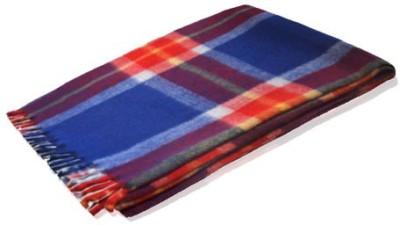 Loomkart Checkered Single Blanket Multicolor Tartan
