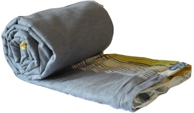 Snuggle Striped, Plain Double Quilts & Comforters Grey