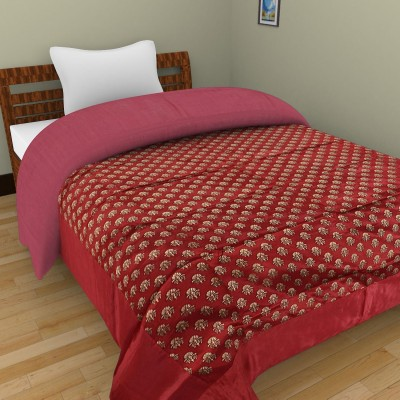 Shra Polka Single Quilts & Comforters Red