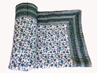 Silkworm Floral Single Quilts & Comforters Blue