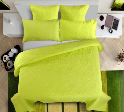 Shahenaz Home Shop Plain King Quilts & Comforters Lemon Green