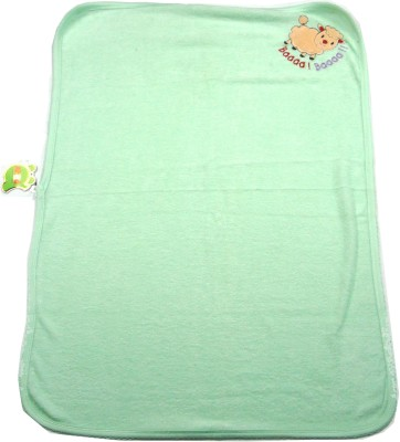 Ahad Plain Single Blanket Mint green