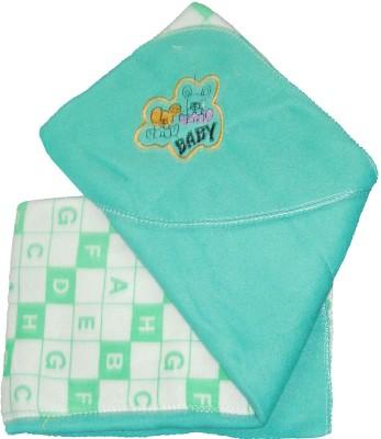 Baby Basics Cartoon Single Blanket Light Green