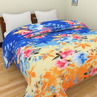 Spangle Floral Double Blanket, Top Sheet Multicolor