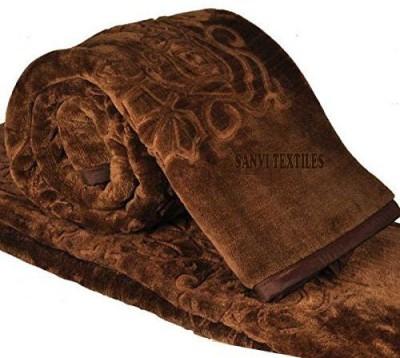 Brida Plain Double Blanket Brown