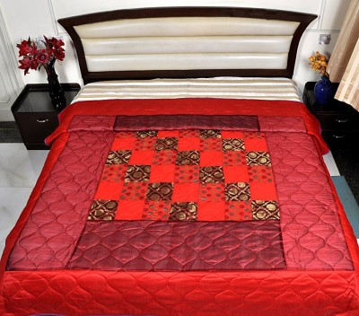 Lal Haveli Abstract Double Quilts & Comforters Red