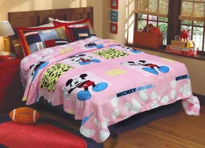 R home Cartoon Double Blanket Multicolour