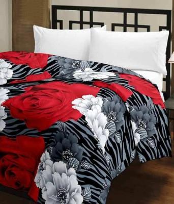 Blanket Zone Floral Single Dohar Multicolor