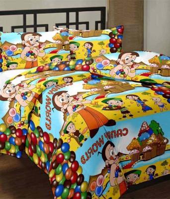 Ayushi Craft & Fashions Cartoon Double Blanket Multicolor