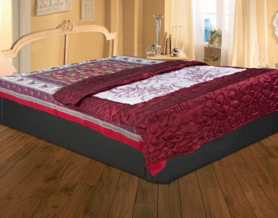 Rajasthan Crafts Floral Single Quilts & Comforters Maroon