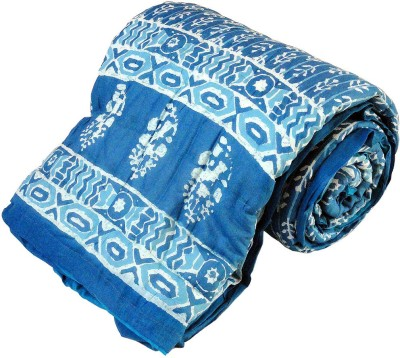 Kiran Udyog Floral Single Quilts & Comforters Blue