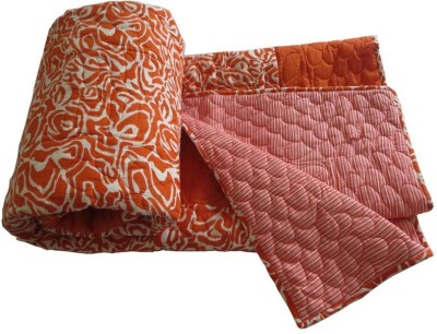 Needlecrest Polka Double Quilts & Comforters Orange