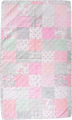 Flazee Floral Single Blanket Pink