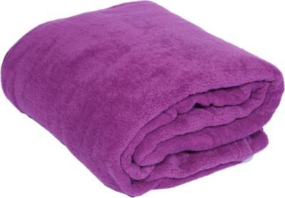 Surhome Plain Single Blanket Purple