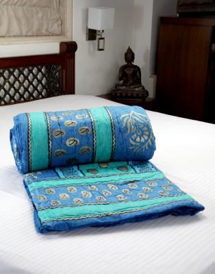 Jodhaa Paisley Double Quilts & Comforters Blue, Green
