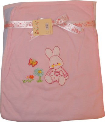 Baby Bucket Self Design Single Blanket Pink