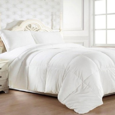 Agarwal Fashion Plain Double Quilts & Comforters White