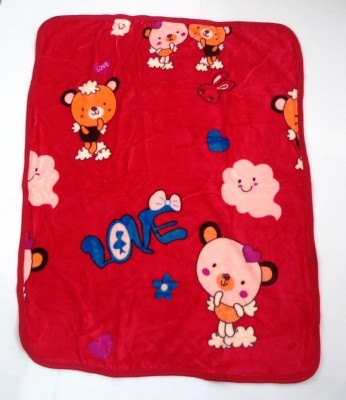 Montally Cartoon Single Quilts & Comforters Red