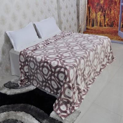 Welhouse India Paisley Double Blanket Beige