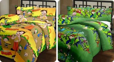 Richa Creation Cartoon Single Dohar Multicolor