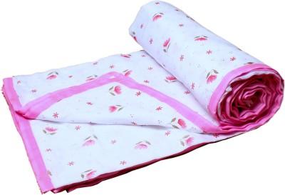 Aransa Floral Single Dohar Pink
