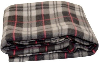 Sheetal Checkered Single Blanket Grey
