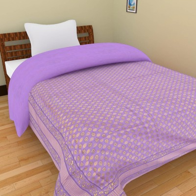 Shra Abstract Single Quilts & Comforters Purple, Gold