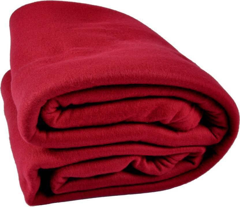 Diamoda Plain Single Blanket Maroon