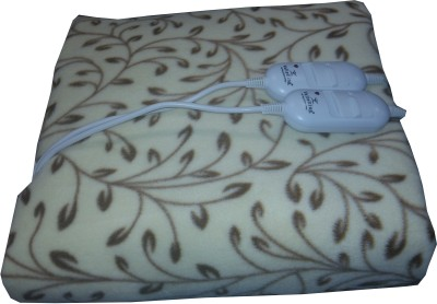 Welhouse Floral Double Electric Blanket Beige