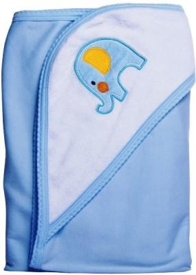Manorath Plain Crib Blanket Sky Blue